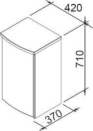 <b>Ravak</b> X000000318 <b>Тумба</b> напольная <b>PS Uni</b> Praktik, Rosa оникс ...