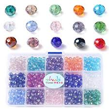 ZHUBI Crystal Beads Rondelle Loose Beads-8mm ... - Amazon.com