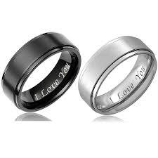 <b>Fashion</b> Couple Rings <b>6mm</b> and <b>8mm</b> Titanium Ring Wedding Band ...