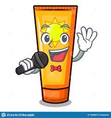 Singing <b>Cartoon</b> Sun Cream In Bag <b>Makeup</b> Stock Vector ...