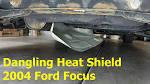 Heat shield on car