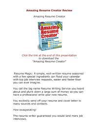 does amazing resume creator actually work amazingresumecreator review
