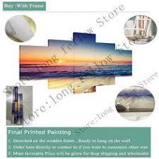 3 Piece Beach Sunset Canvas Print Decor Poster Modular Picture ...