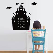 house shaped black board wall stickers kids early learning wallpapers gifts toys home office school poster home office early