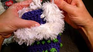 How To Crochet With <b>Fur Yarn</b> - YouTube