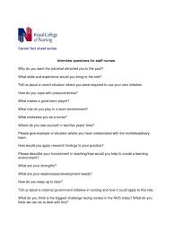 staff nurse interview questions nursing