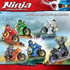 Lego Compatible <b>Ninja</b> Tornado Motorcycle Minifigures <b>Decool</b> ...