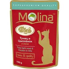 <b>Паучи Molina Taste &</b> Quality Tuna Light Meat & Chicken in Jelly ...