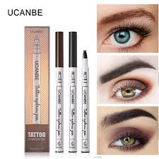 brand makeup waterproof natural eyebrow pencil four claw tint 4 color eye brow pen brown black gray brush