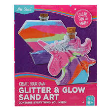 Glitter & Glow Sand Art - <b>Unicorn</b> & <b>Diamond</b> - Riot Stores PTY LTD