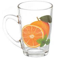 <b>Кружка стеклянная</b> Декостек Капучинка Апельсин 2006-Д, 230 мл ...