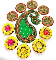 Buy Curiocity Handicraft Designer Rangoli - Jewel Stone ...
