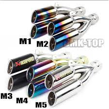 38-51mm <b>Motorcycle</b> Muffler Exhaust Tail Pipe Double Twin Tip ...
