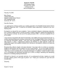 cover letter student services position sample cover letter for student