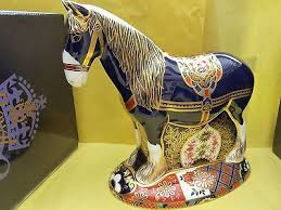 "<b>Royal Crown</b> Derby Paperweight ""Shire Horse"" Lim Edit 1500 ..."