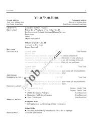 examples of resumes basic cv template forms other basic cv template cv template forms samples regard to basic sample resume
