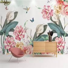 <b>beibehang Custom</b> Modern Plant flower wallpaper for bedroom ...