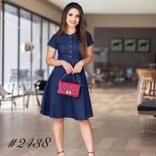 YC # <b>korean denim dress</b> blue dress COD | Shopee Philippines