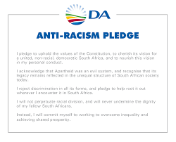 join the da volunteer democratic alliance all new and returning da members are requested to sign the da anti racism pledge