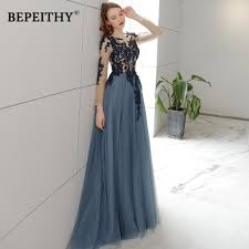 <b>Vestido De Festa</b> Open Back Long Evening Dress Full Sleeves <b>2019</b> ...