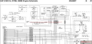 cat ignition switch wiring diagram cat wiring diagrams cat ignition switch wiring diagram peterbilt cat c10 c12 3176b 3406e engine schematic sk24807