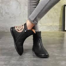 <b>Ethnic Style Retro</b> Leather Round Head <b>Women</b> Boots | gutal in ...