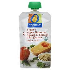 O Organics <b>Organic Baby Food Stage</b> 2 Apple Butternut Squash ...