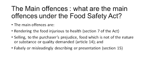 essay on food safety and consumer protection essay the food safety act 1990 main aims scope and duties