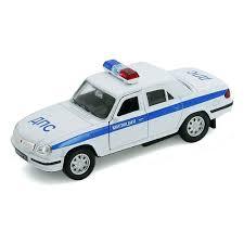 Игрушка <b>WELLY</b> 42384PB <b>Модель машины</b> Волга Милиция ДПС ...
