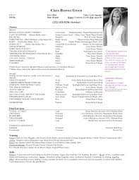 example of actor resume template example of actor resume