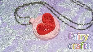 <b>Кулон</b> Сердце из бумаги своими руками DIY Heart Pendant Paper ...
