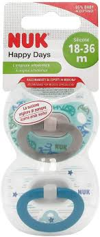 Nuk <b>Happy</b> Days <b>Silicone Pacifier</b> 18-36 Months X2: Amazon.ca ...