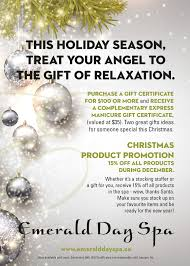 christmas gift certificate promotion emerald day spa and christmas gift certificate promotion emerald day spa and wellness center