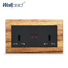 <b>New</b> Arrival 2 Gang 6 Pin <b>Universal Socket With</b> Switches Wallpad ...