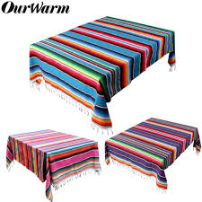 <b>OurWarm</b> Mexican <b>Cotton</b> Tablecloth Blanket Wedding Table Cloth ...