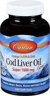 Carlson - <b>Cod</b> Liver Oil, Super 1000 mg + Vitamins A & D3, <b>Wild</b>
