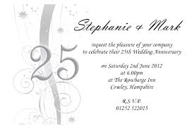 th wedding anniversary invitations templates for online 25th wedding anniversary invitations