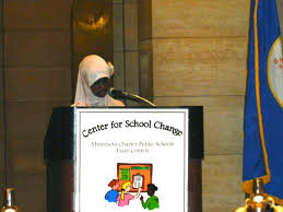 charter essay contest winners present at the state capitol ilhan abdullahi of higher ground academy s 5th grade