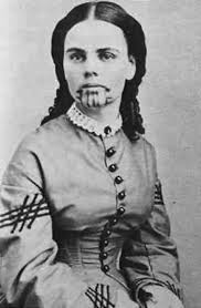Olive Oatman After Living with the Mohave Indians