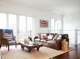shabby chic living room interior design ideas sisal carpet age diy coffee table wheelbarrow leather sofa chic living room leather