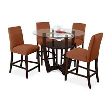 kitchen table sets bo: alcove counter height dinette with  side chairs orange