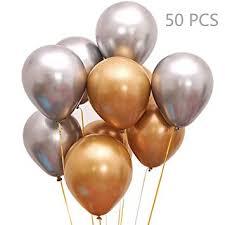 Jurxy 50 PCS <b>Metallic</b> Party Balloons 12'' <b>Glossy Metal Pearl</b> Latex ...
