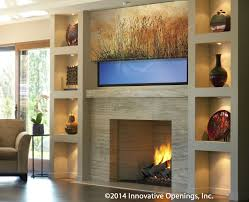 Hide Tv In Wall Printed Shades Can Hide Your Tv Beautifully Here Partially