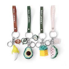 New Cute <b>Corn</b> Avocado Fruit Keychain Car Pendant Men And ...