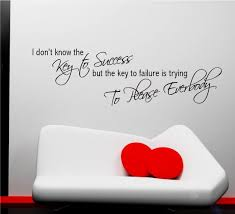 key to success office motivation wall art quote phrase sticker key to success office motivation wall art quote