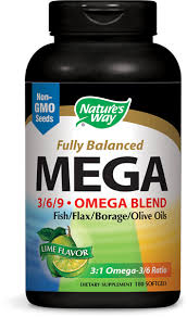 <b>Mega 3/6/9</b> Blend 1350 mg / 180 Softgels - Nature's Way®.