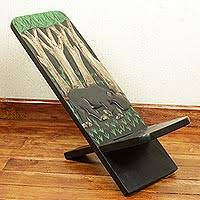 wood lazy chair african jungle artisan crafted wildlife theme west african wood african themed furniture