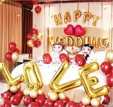 Balloons Solid Golden happy wedding anniversary ... - Flipkart.com