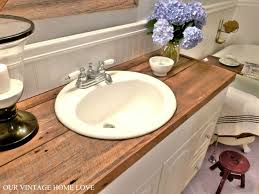 decor replace bathroom countertop arts hate your countertops diy salvaged wood countercheap and so much more
