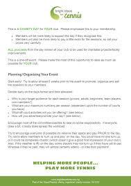 bright ideas for tennis tennis charity resources bright ideas for tennis oranisation tips